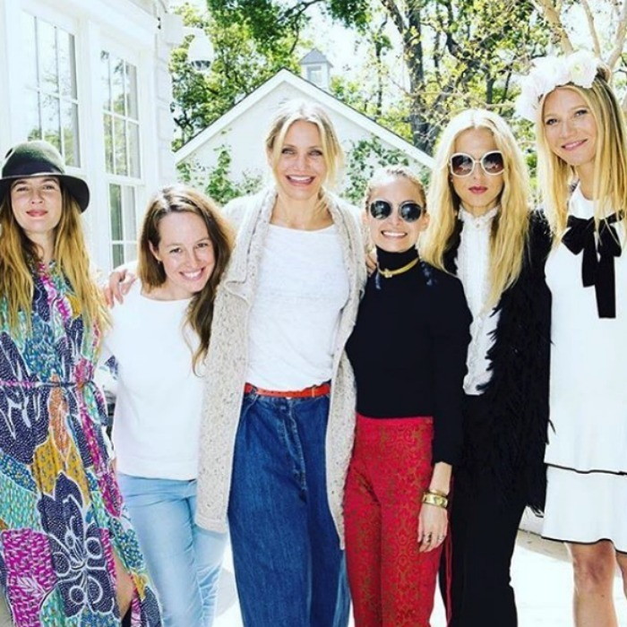 Drew Barrymore, Cameron Diaz, Nicole Ritchie and Gwyneth Paltrow 