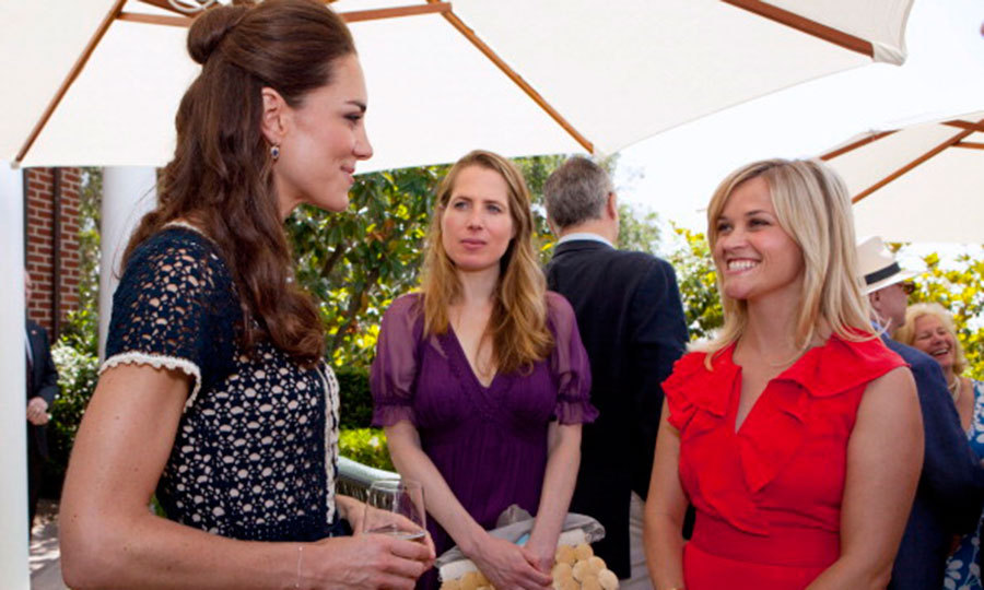 "The Duchess of Cambridge met Oscar winner <a href=""http://us.hellomagazine.com/tags/1/reese-witherspoon/""><strong>Reese Witherspoon</strong></a>n at a Los Angeles party in July 2011.
