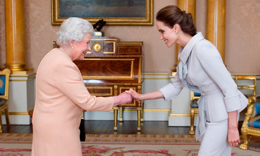 "<a href=""http://us.hellomagazine.com/tags/1/angelina-jolie/""><strong>Angelina Jolie</strong></a> had the privilege of meeting Queen Elizabeth in October 2014 when she received honorary damehood for her efforts to combat sexual violence in global war zones.