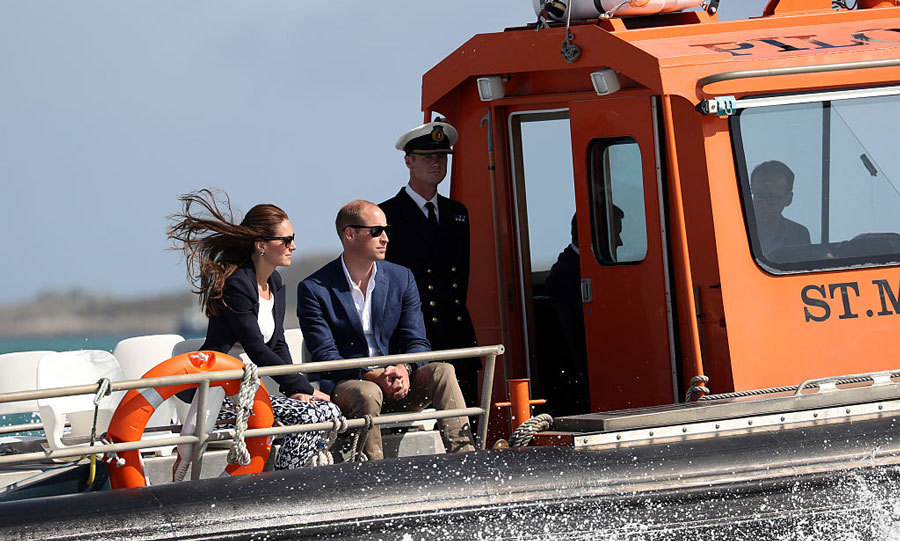 "The royals boarded the ""Pegasus"" to leave Tresco and head to St. Martin's.