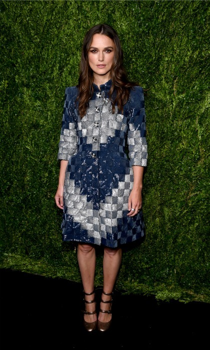 Keira Knightley was the lady of the hour at the CHANEL Fine Jewelry dinner in her honor at The Jewel Box, Bergdorf Goodman.