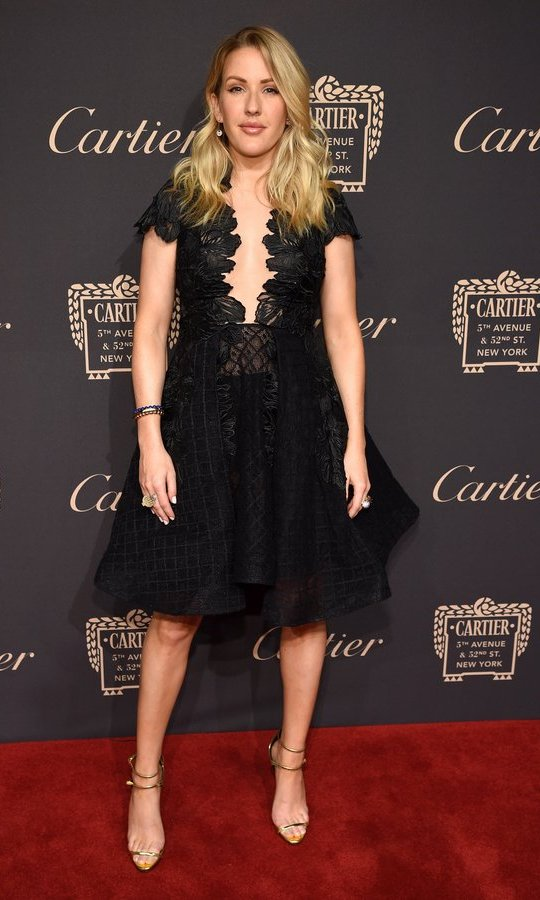 Ellie Goulding wore a black number before changing into a matching co-ord set to perform at the Cartier after party.