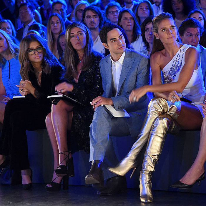 FROW goals! Zendaya, Nina Garcia, Zac Posen and Heidi Klum sat front row at the Project Runway fashion show during New York Fashion Week.