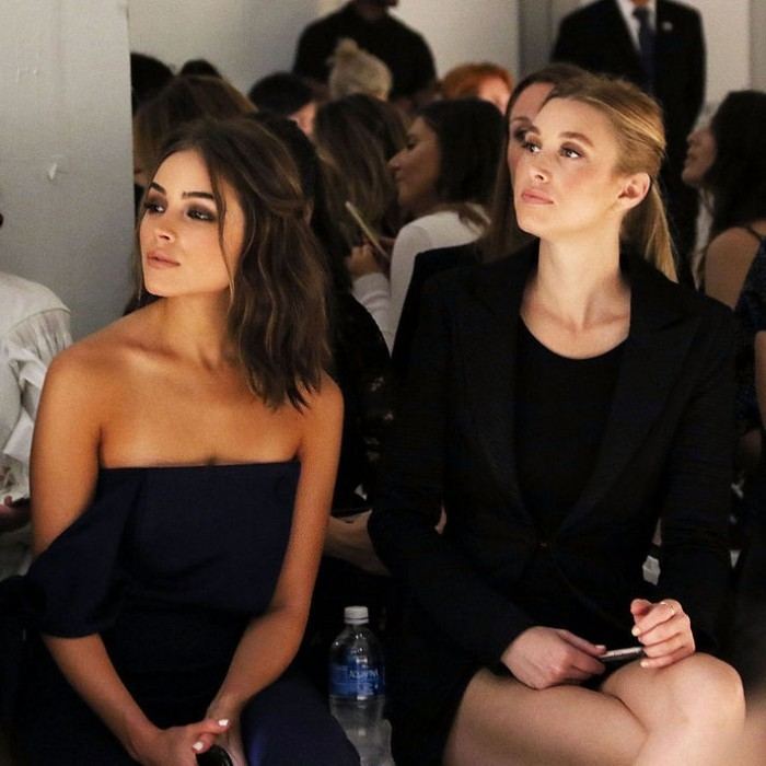 Olivia Culpo and Whitney Port checked out the Misha Collection looks from the front row.