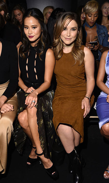 Jamie Chung and Sophia Bush enjoyed the Cushnie Et Ochs fashion show together at the Skylight at Moynihan Station.