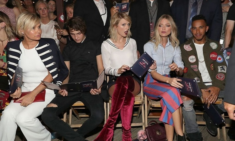 Taylor Swift, Martha Hunt, Lewis Hamilton, Yolanda and Anwar Hadid couldn't contain their excitement for the Tommy x Gigi collection.