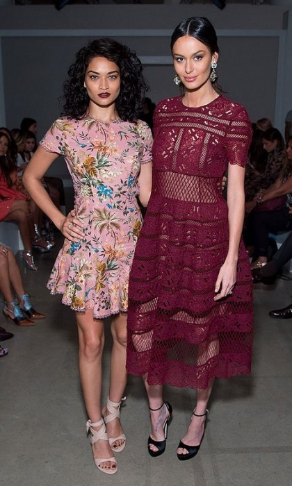 Shanina Shaik and Nicole Trunfio watched the Zimmermann show from the front row.