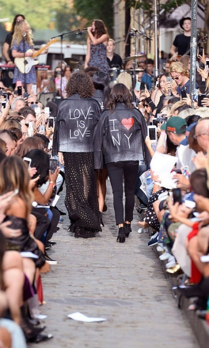 Rebecca Minkoff closed down a street in NYC's SoHo for her show.