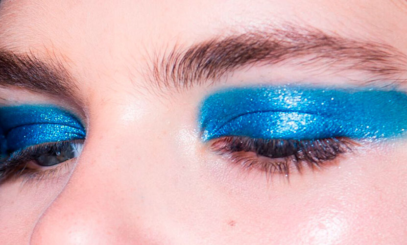 Here, Geometric Blue, using the 'Fired Sapphire' from the Eye Palette applied freeform across the lid.