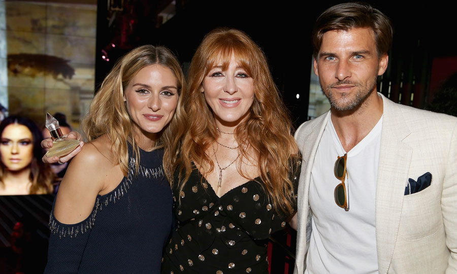 Three's company! Olivia Palermo and her husband Johannes Huebl joined make-up artist Charlotte Tilbury at the Charlotte Tilbury x Samsung event in New York City.