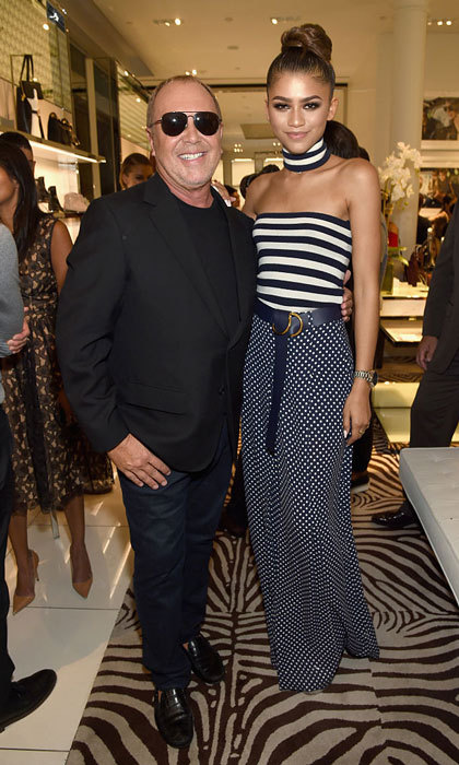 Zendaya  joined designer Michael Kors at the Michael Kors Access Smartwatch launch party.