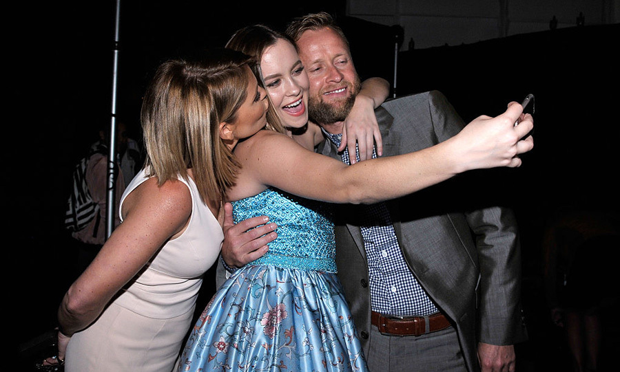 Candace Cameron Bure and her husband Val Bure came out to support their daughter, Natasha Bure, at the Sherri Hill presentation.