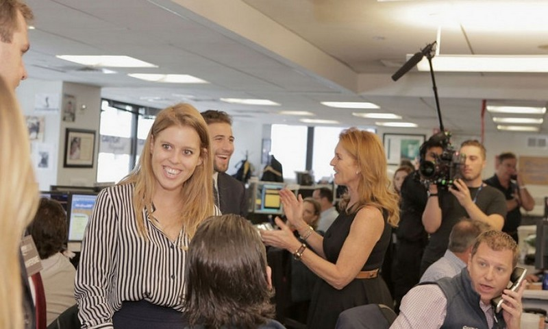 "<a href=""http://us.hellomagazine.com/tags/1/princess-beatrice/""><strong>Princess Beatrice</strong></a> was joined by mom Sarah Ferguson as they made the rounds to Cantor Fitzgerald, BGC Partners and GFI Group for their annual Charity Day on September 12 to remember the employees lost in the 9/11 attacks. All global revenues from the day go to the Cantor Fitzgerald Relief Fund and charities around the world.