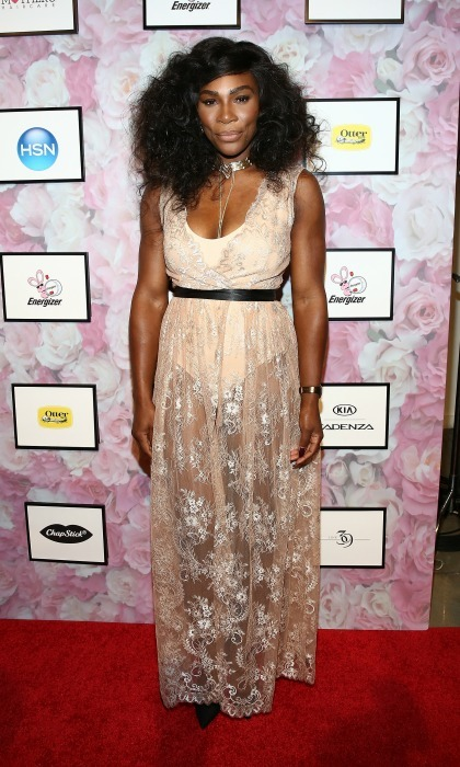 Golden goddess! Serena Williams made a statement on the carpet before her Signature Statement Collection By HSN during Style360 Fashion Week Show. 