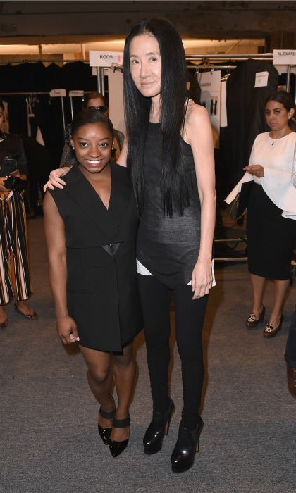 Simone Biles posed for one of her classic side-by-side photos with Vera Wang. 