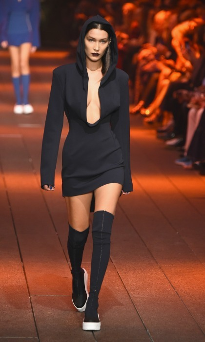 Bella Hadid worked the runway during the  DKNY Women show. 
