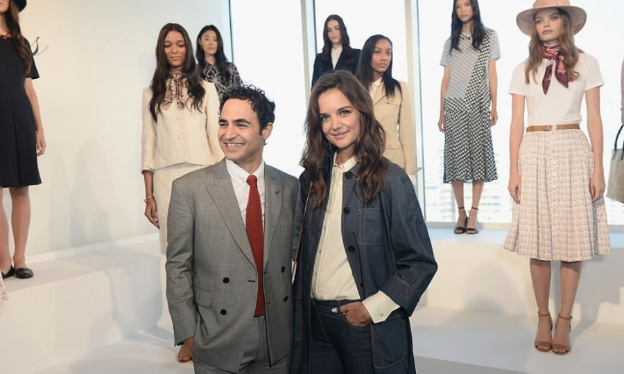 Katie Holmes supported good friend Zac Posen at his Brooks Brothers' presentation.