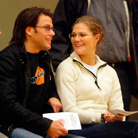 "Years before they said ""I do"" Victoria and her (then boyfriend) Daniel spent some relaxed quality time together at a basketball game in Stockholm, Sweden in 2003. 