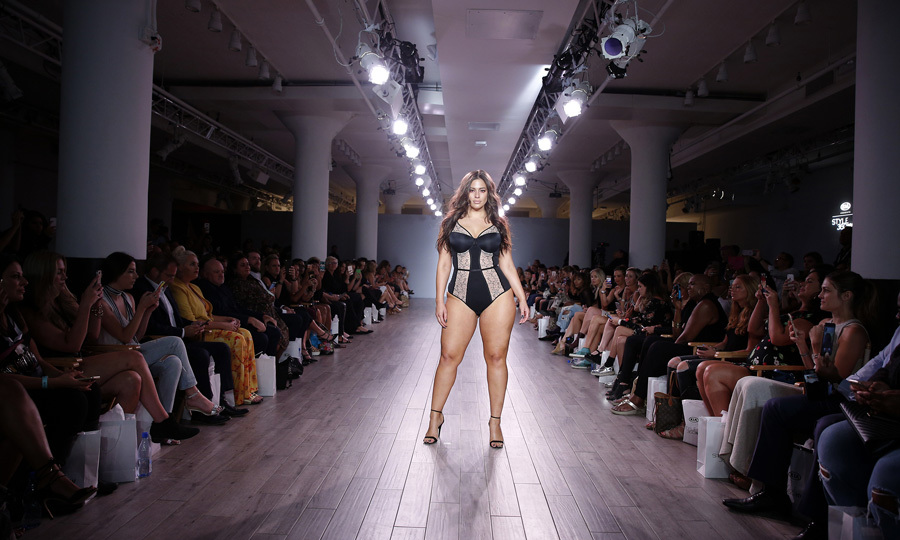 Ashley Graham worked the runway at the Addition Elle Presents Holiday 2016 RTW + Ashley Graham Lingerie Collection at Kia STYLE360 NYFW.
