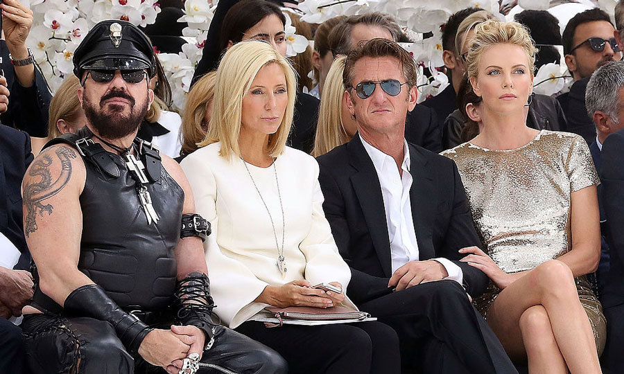 Royalty and Hollywood collided at the Christian Dior Haute Couture Fall/Winter 2014-2015 show during PFW. Princess Marie-Chantal of Greece was sandwiched between architect Peter Marino (left) and actor Sean Penn (right), who was accompanied by his then-girlfriend Charlize Theron at the Musée Rodin.