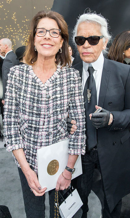 "<a href=""http://us.hellomagazine.com/tags/1/Princess-Caroline/""><strong>Princess Caroline of Hanover</strong></a> posed alongside designer Karl Lagerfeld at the Grand Palais for the Chanel Fall/Winter 2013 ready-to-wear show during Paris Fashion Week.