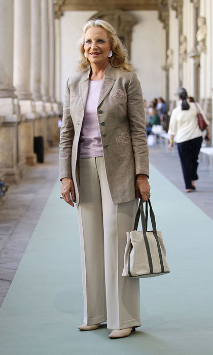 Princess Michael of Kent looked prim and proper to attend the Luisa Beccaria Spring/Summer 2012 fashion show during Milan Womenswear Fashion Week.