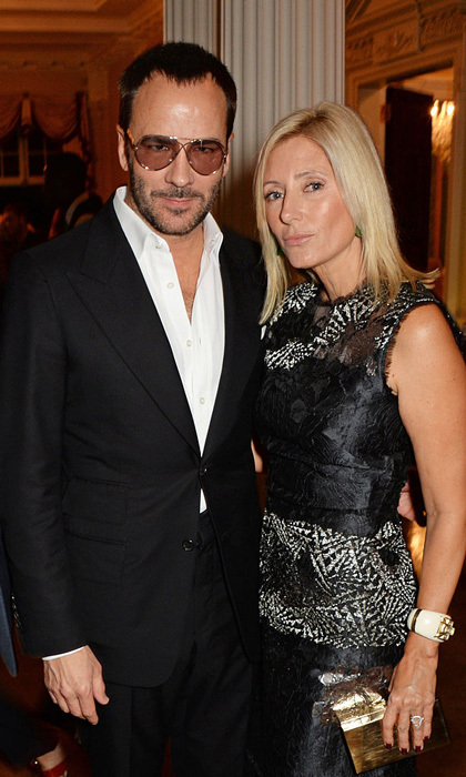 "<a href=""http://us.hellomagazine.com/tags/1/princess-marie-chantal/""><strong>Princess Marie-Chantal of Greece</strong></a> celebrated London Fashion Week with designer Tom Ford at the Winfield House in 2014.