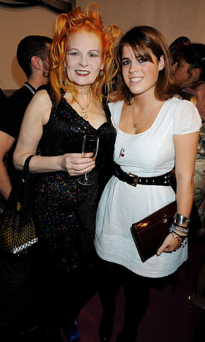 "Designer Vivienne Westwood and <a href=""http://us.hellomagazine.com/tags/1/princess-Eugenie/""><strong>Princess Eugenie</strong></a> came together for the 2008 Fashion for Relief event during London Fashion Week Spring/Summer 2009.