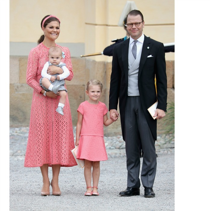 In one of their cutest moments to date, Victoria and Daniel showed off their family, complete with their children, Princess Estelle and Prince Oscar, during the christening of Prince Alexander of Sweden in September 2016. 