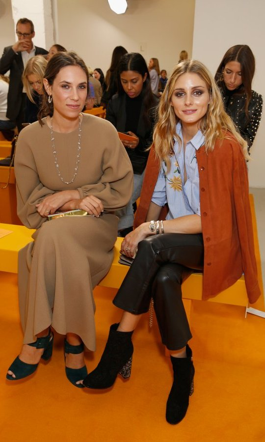 Olivia Palermo, right, joined Monaco royal Tatiana Santo Domingo at the Emilia Wickstead show.