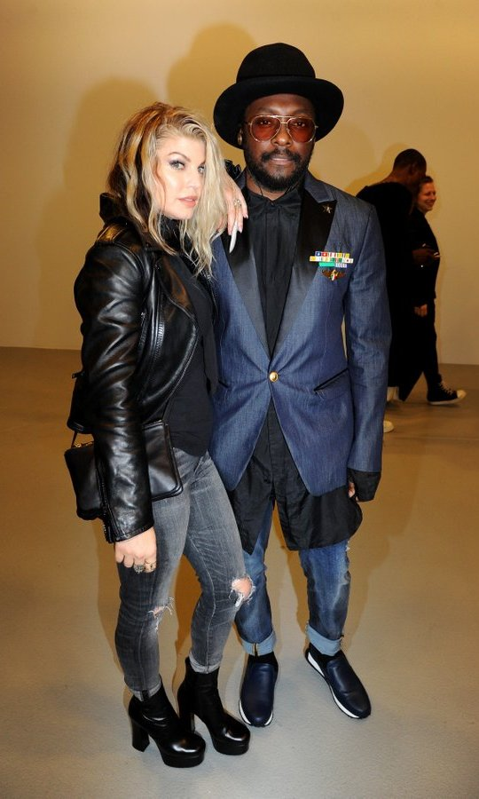 It was a Black Eyed Peas reunion as Will.i.am and Fergie joined forces at Gareth Pugh.