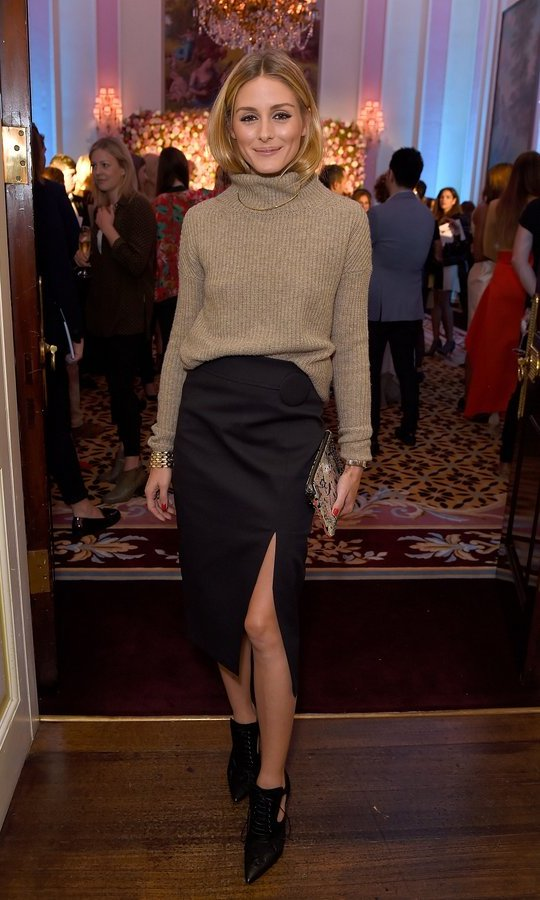 Olivia Palermo demonstrated why we love sweater weather in cozy knits at the launch of new luxury womenswear label Maison Makarem.