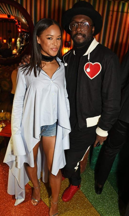 Will.i.am wore his heart on his sleeve (almost) alongside Serayah as he hosted the Farfetch LFW at Loulou's. 