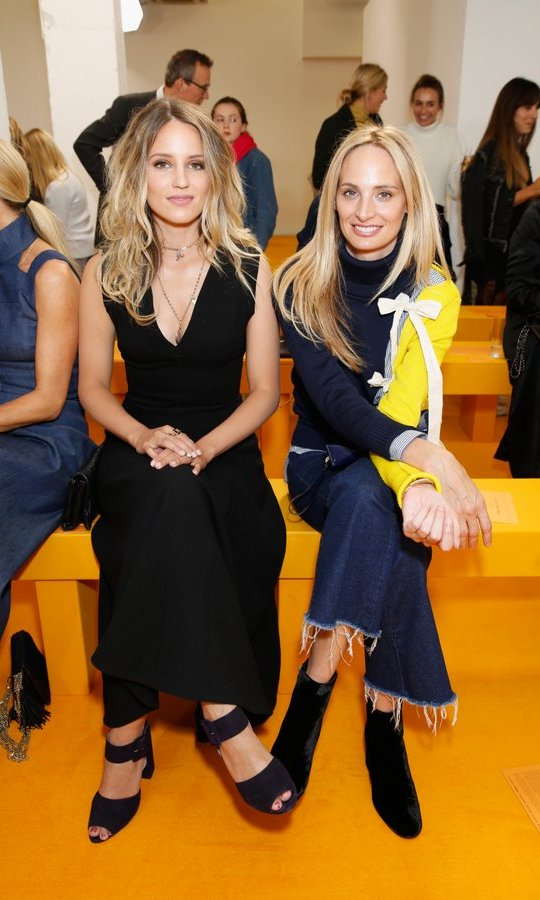 <I>Glee</I>'s Dianna Agron, left, and Moda Operandi co-founder Lauren Santo Domingo sat front row at Emilia Wickstead.