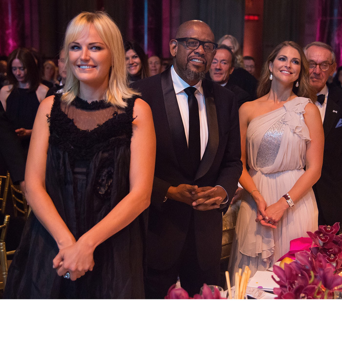 "The Swedish royal mingled with Hollywood at the glitzy Manhattan gala, including actress Malin Akerman and actor Forest Whitaker. Taking to her Facebook, Princess Madeleine wrote, ""It was an honor to celebrate all the advocates, supporters and friends who further my mother's mission to ensure that every child has a happy and safe childhood free of abuse and exploitation.""