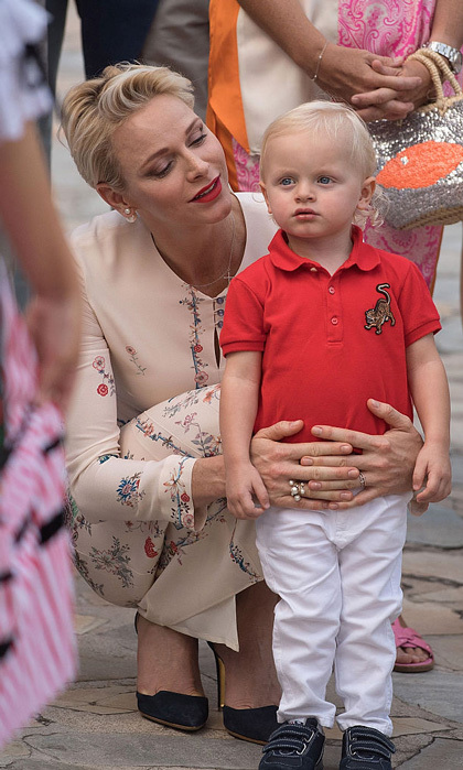 "September 2016: Wearing his picnic best! <a href=""http://us.hellomagazine.com/tags/1/prince-jacques/""><strong>Prince Jacques</strong></a> of Monaco was dressed to the nines sporting a red polo and white pants for the annual traditional pique-nique Monégasque with his mom <a href=""http://us.hellomagazine.com/tags/1/princess-charlene/""><strong>Princess Charlene</strong></a>.