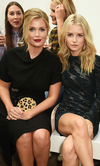 Princess Diana's niece Lady Kitty Spencer joined Kate Moss' sister Lottie Moss in the front row of the Topshop Unique show.