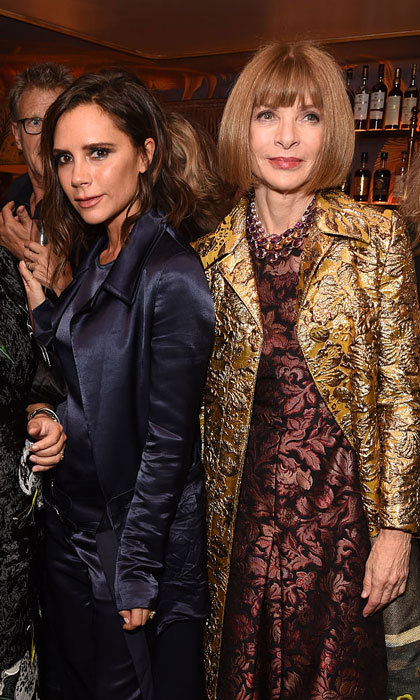 "Talk about [fashion] girl power! Victoria Beckham and Vogue's Anna Wintour made a stylish duo at the book launch party for ""Vogue: Voice Of A Century.""