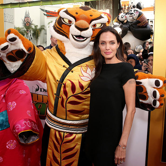 Mom-of-six Angelina made the January 2016 Los Angeles premiere of her movie <i>Kung Fu Panda 3</i> a family affair attending with her kids – Shiloh, Vivienne, Knox, Zahara and Pax.