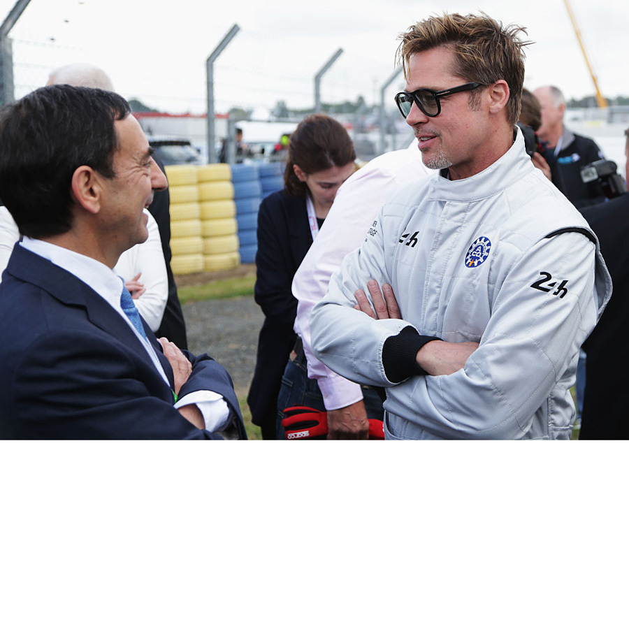 On the other side of the world in June, Brad attended the Le Mans 24 Hour race in France. The actor suited up with drivers from the Audi, Porsche and Toyota teams during the race at the Circuit de la Sarthe in LeMans.