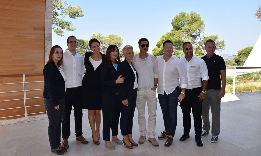 In early September, the <i>Fight Club</i> star traveled to Sibenik, Croatia sans his family to meet with business partners to discuss a possible $1.5 billion real estate project on the Adriatic coast. The actor met with acclaimed architect Nikola Basic and investors to see the site of a new development in Zablace that would include luxury villas, a golf course, shops and a flagship hotel. 