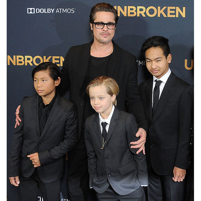 "After the news broke on September 20 that Angelina filed for divorce, Brad, seen here with Pax, Shiloh and Maddox, broke his silence, releasing a statement to People magazine. ""I am very saddened by this, but what matters most now is the wellbeing of our kids,"" he said. ""I kindly ask the press to give them the space they deserve during this challenging time.""