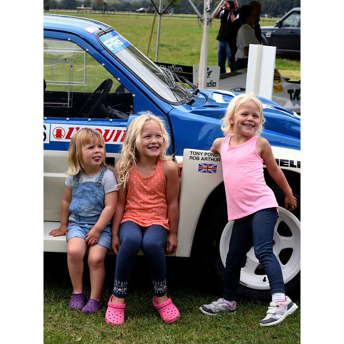 Girls' day out! In September 2016, Mia enjoyed a sweet outing with her cousins Savannah Phillips and Isla Phillips at the Whatley Manor Gatcombe Horse Trials. 