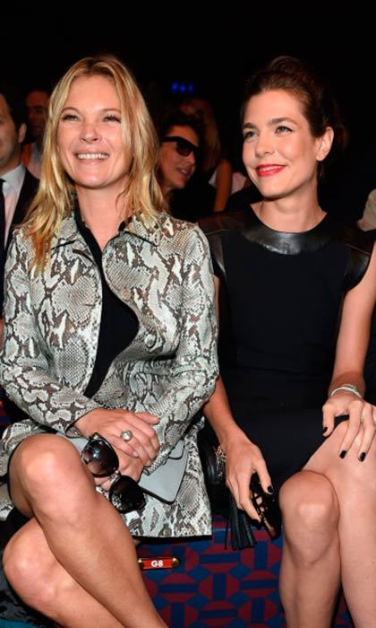 All eyes were on Charlotte Casiraghi as she joined Kate Moss and Anna Wintour in the front row at the Gucci show in September 2014 for the first day of Milan Fashion Week. 
