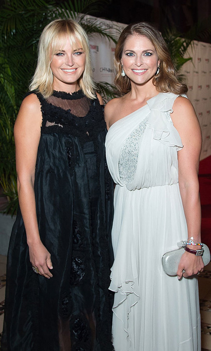 "<a href=""http://us.hellomagazine.com/tags/1/Princess-Madeleine/""><strong>Princess Madeleine</strong></a> mingled with Hollywood at the World Childhood Foundation USA Thank You Gala, including actress Malin Akerman. 