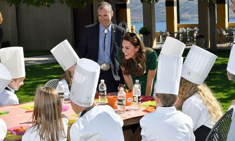 Next, they made their way to the Taste of British Columbia event at Mission Hill Winery where Kate chatted with a bunch of chefs in the making.