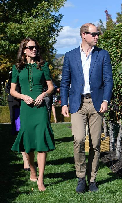 Prince William and the Duchess of Cambridge had it made in the shades during the visit to Mission Hill Winery in Kelowna.