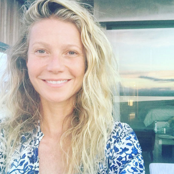 "Goop guru <a href=""http://us.hellomagazine.com/tags/1/gwyneth-paltrow/""><strong>Gwyneth Paltrow</strong></a> keeps it real with her bare face and natural waves. 
