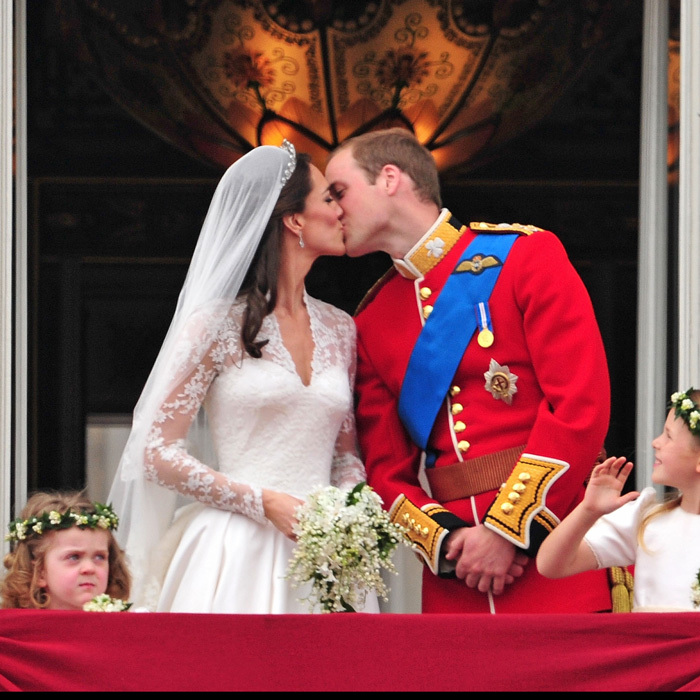 The kiss seen around the world! The newly-minted Duke and Duchess of Cambridge sealed their marriage with a public kiss on the balcony of Buckingham Palace, following their 2011 royal wedding.