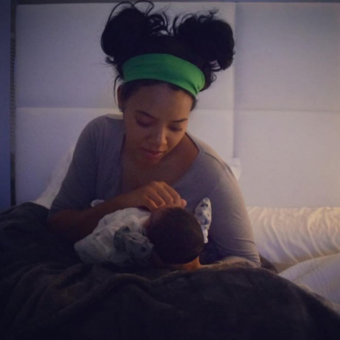 "Angela Simmons and her fiancé, Sutton Tennyson are officially parents! The 29-year-old daughter of Run D.M.C.'s Rev Run and <i>Growing Up Hip Hop</i> star shared a picture of her with their newborn son Sutton Joseph with the caption, ""The best part of life has just begun #Motherhood #ImSoInLove."" 